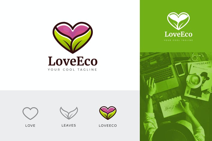 Thumbnail for Love Eco Corporate Logo Vector Template