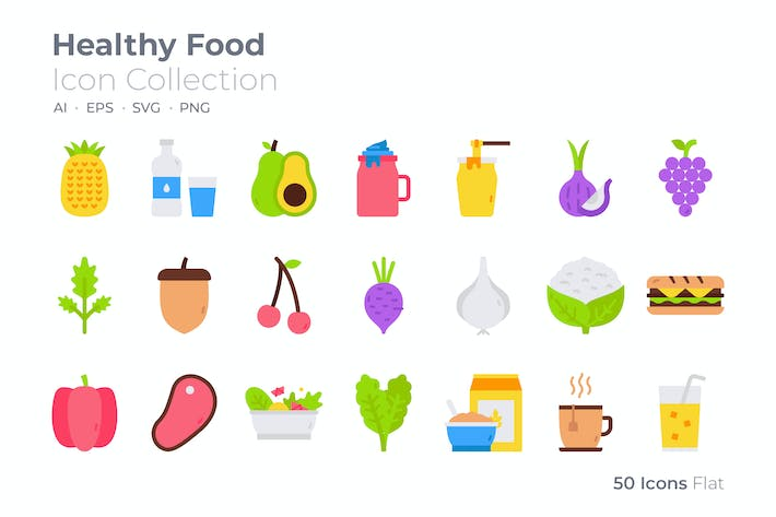 Thumbnail for Healthy Food Color Icon