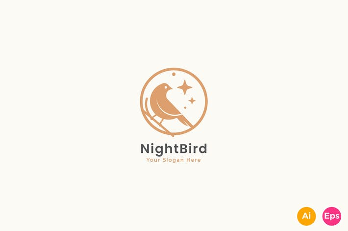 Thumbnail for Night Bird Elegant Logo Template