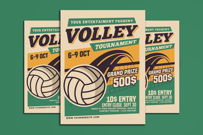 Thumbnail for Volleyball Tournament Flyer