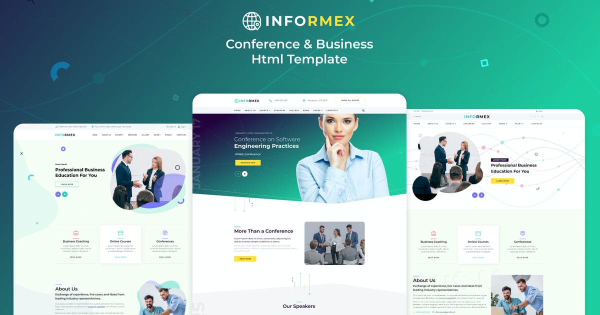 Download Informex   Conference & Business Html Template by Rovadex
