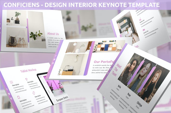 Thumbnail for Conficiens - Design Interior Keynote Template