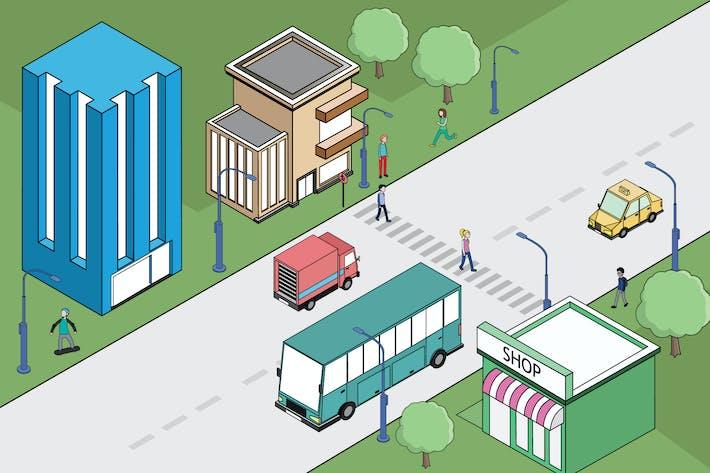 Thumbnail for Illustration der Aktivitäten der Metropolitan Crossing Road
