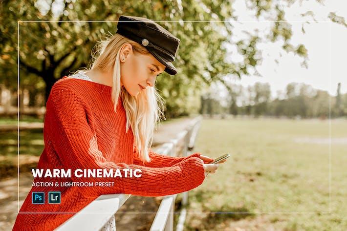 Warm Cinematic Action & Lightroom Preset