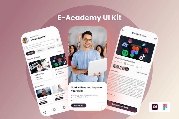 E-Academy Mobile UI