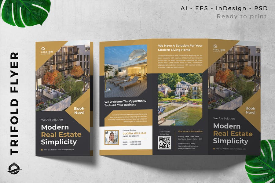 Real estate / Apartment Trifold Brochure Flyer
