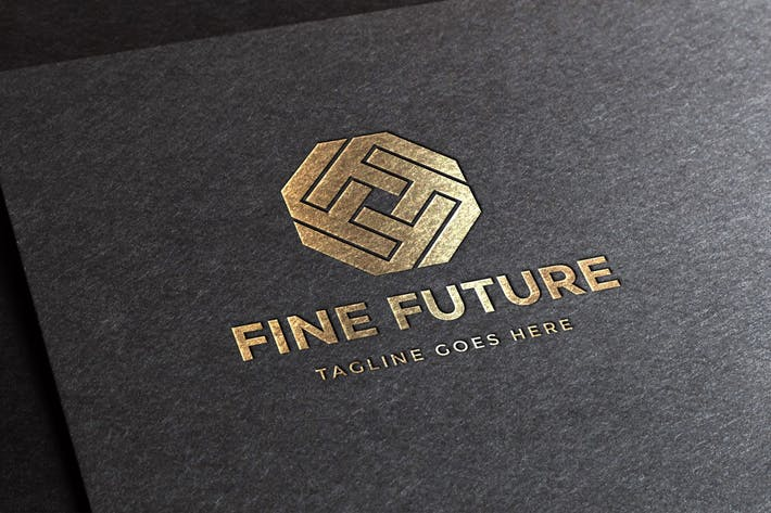 Thumbnail for Fine Future Letter F Logo Template