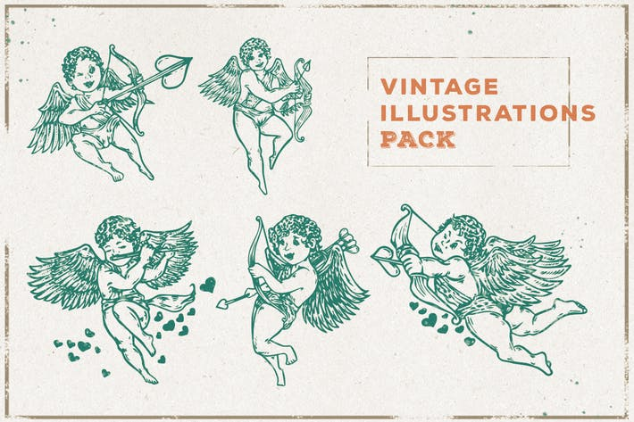 Thumbnail for Vintage Cupid Illustration Pack