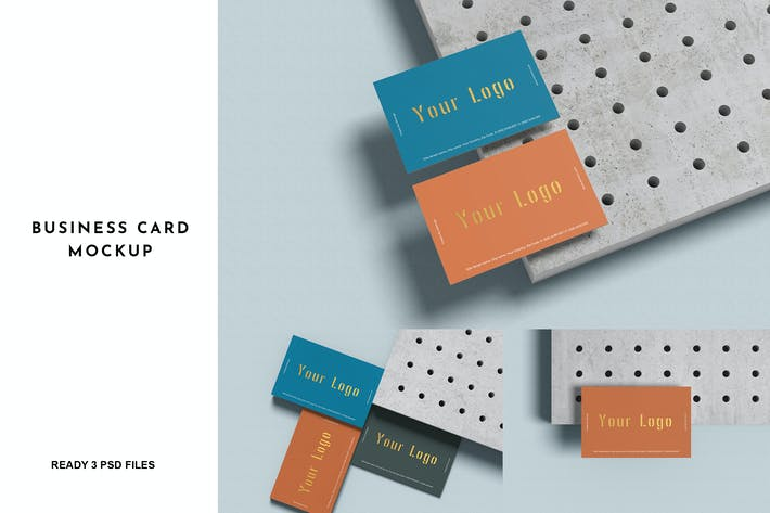 3 Psd Business Card Mockup