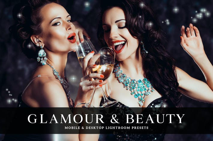 Thumbnail for Glamour & Beauty Mobile & Desktop Lightroom Preset
