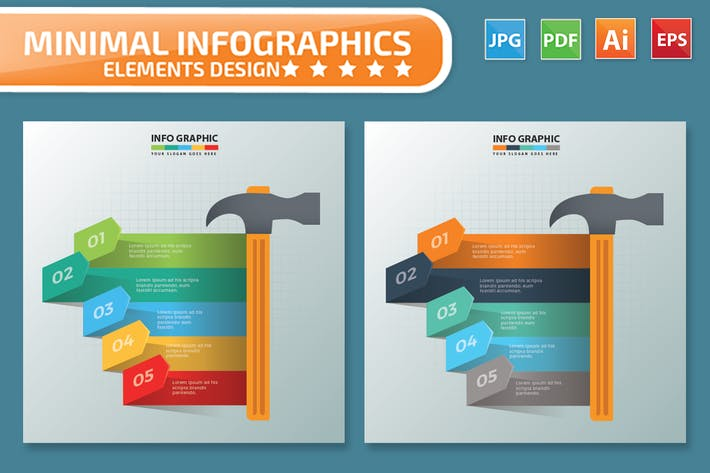 Thumbnail for Hammer Infographics Design