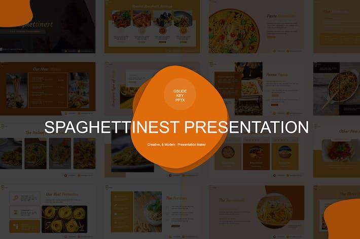 Thumbnail for Шаблон презентации Spaghettinest