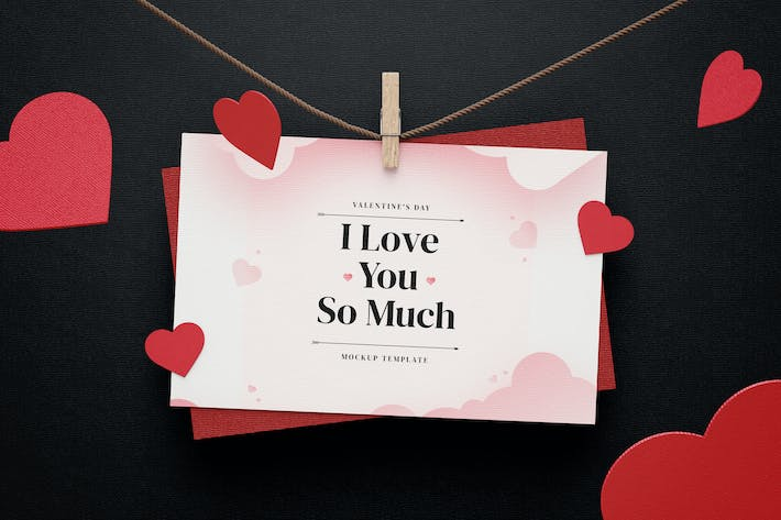 Thumbnail for Creative Valentine's Day Mockup Template
