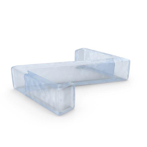 Ледяная буква заглавная Z
