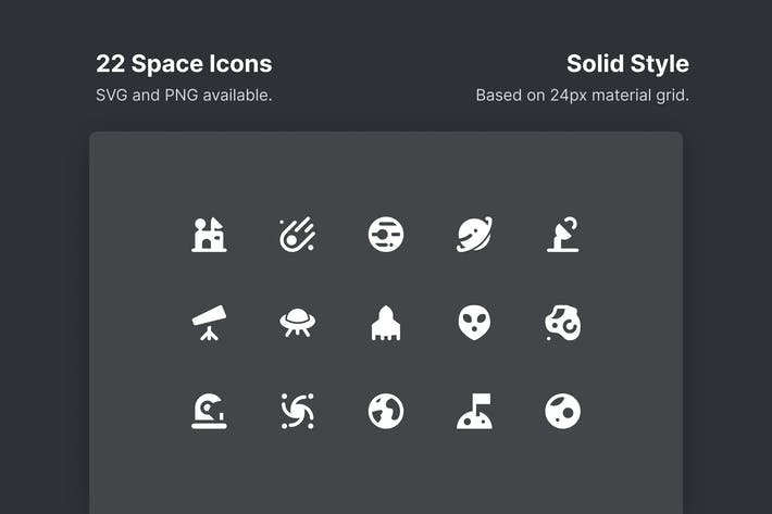 Space Icons - Solid Style