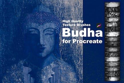 Texture Brushes for Procreate. Budha