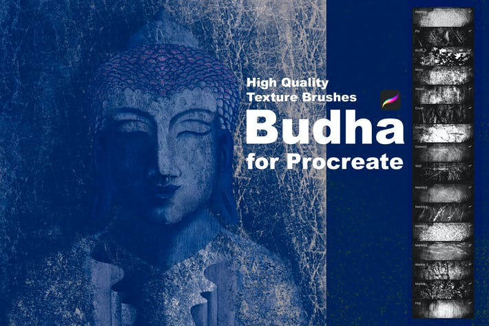 Thumbnail for Texture Brushes for Procreate. Budha