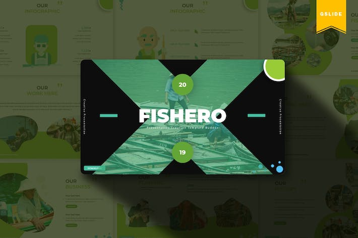 Thumbnail for Fishero | Google Slides Template