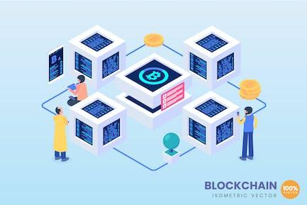 Isometric Blockchain Concept