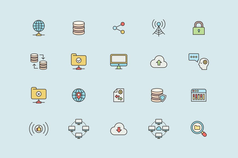 Data & Networks Icons