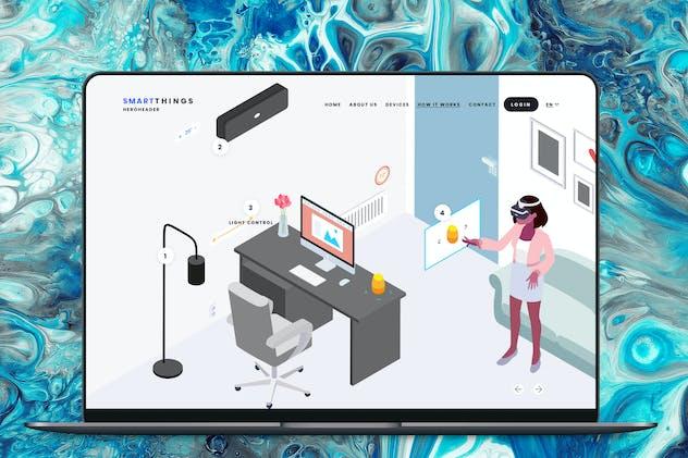 Hero Header Smartthings Isometric Template