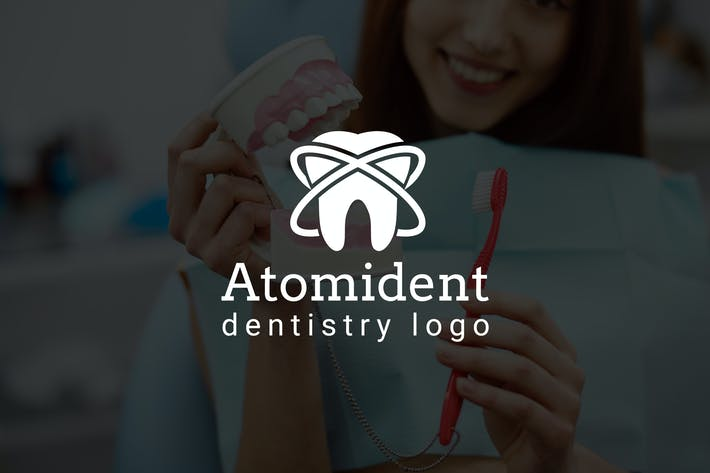 Thumbnail for Atomident : Dental / Dentist Logo