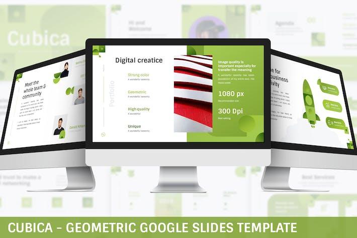 Cubica - Geometric Google Slides Template