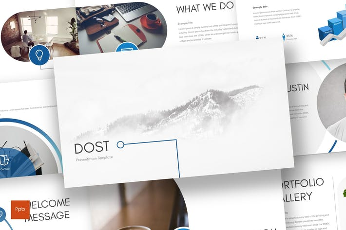 Thumbnail for Dost - Powerpoint Template