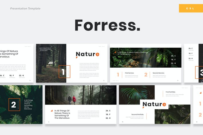 Thumbnail for Foress - Nature Google Slides Template