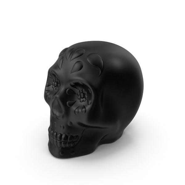 Halloween Skull Black