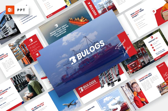 BULOGS - Transport & Logistics Powerpoint Template