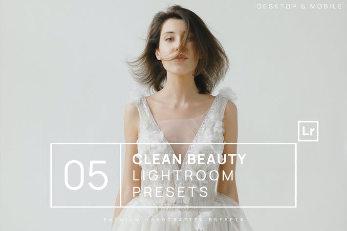 Thumbnail for 5 Clean Natural Beauty Lightroom Presets + Mobile