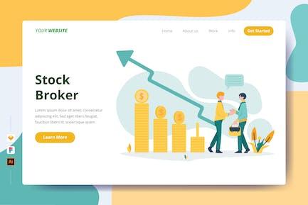 Stock Broker - Landing Page