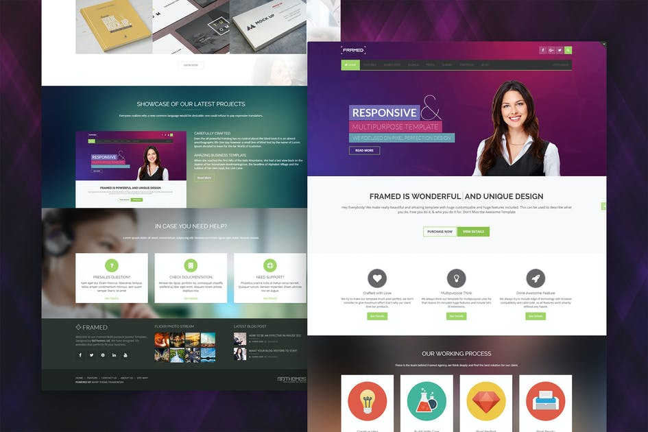Download Framed - Multi-purpose Responsive Joomla Template by bdthemes