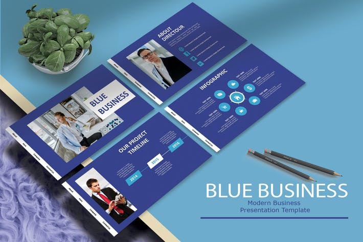 BLUE BUSINESS - KeynoteTemplate