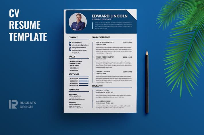 Thumbnail for Minimalist CV  Resume R37 Template