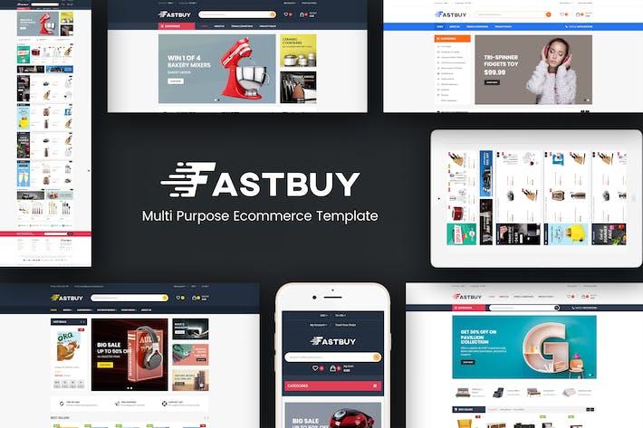 FastBuy - Мега Магазин Отзывчивый Opencart 3 Тема