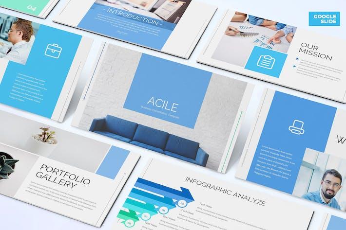 Thumbnail for Acile - Бизнес Google Слайды Шаблон