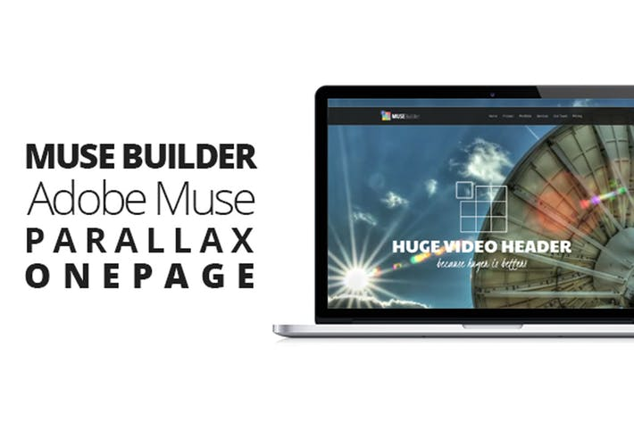 Thumbnail for Muse Builder | Parallax OnePage Template For Muse