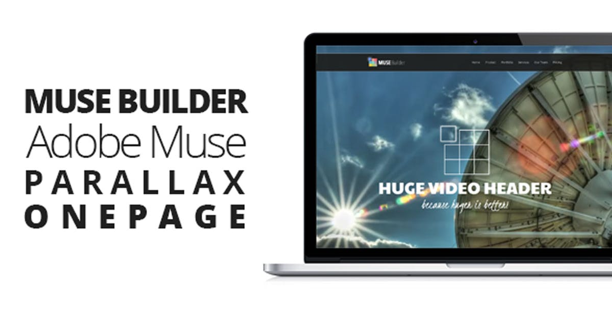 Download Muse Builder | Parallax OnePage Template For Muse by themejive