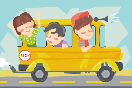 Schulbus Illustration