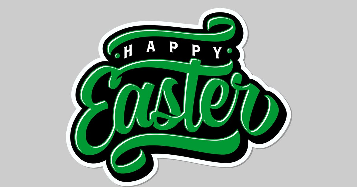 Download Happy Easter Lettering by twicolabs