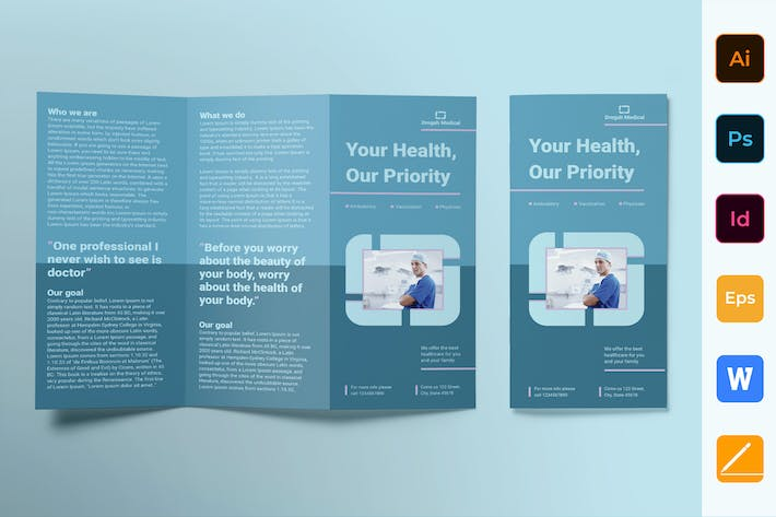 Thumbnail for Clinic Brochure Trifold