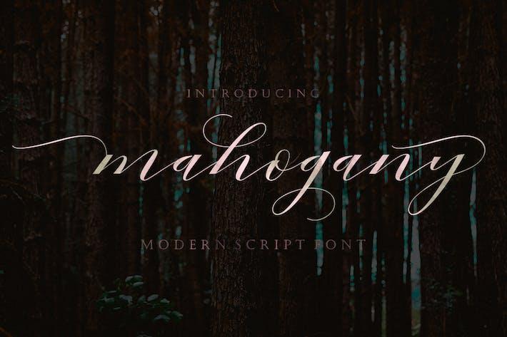 Cover Image For Mahogany Script