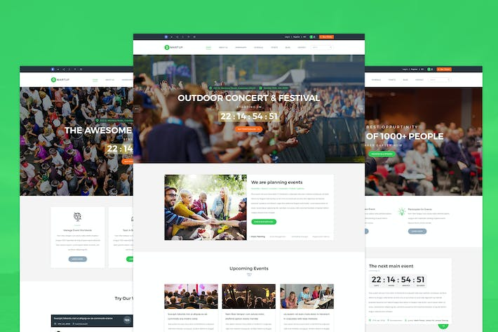 Thumbnail for Smartup - Event Management PSD template