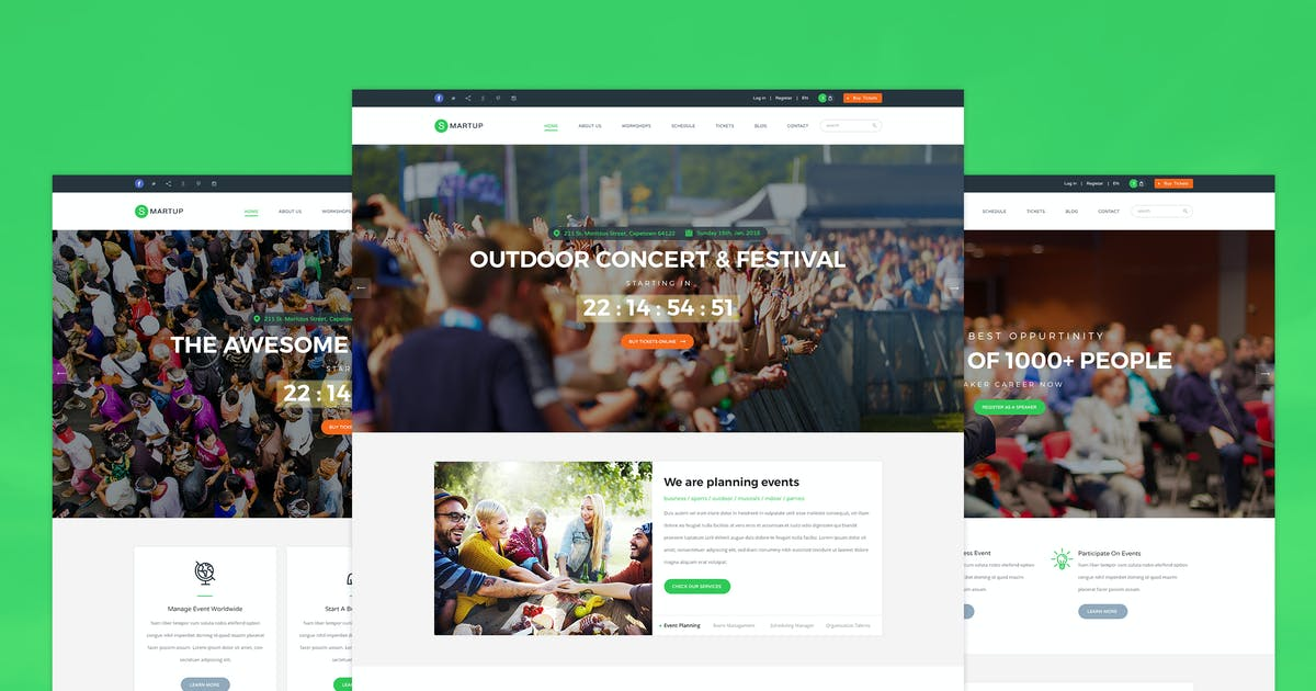 Download Smartup - Event Management PSD template by KL-Webmedia
