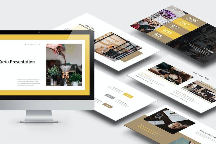 Thumbnail for Курия: Кофе и Brew Business Powerpoint