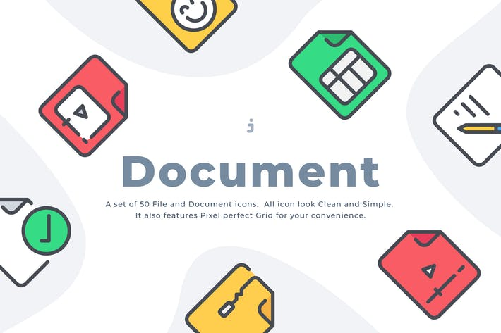 Thumbnail for 50 File and Document icon set
