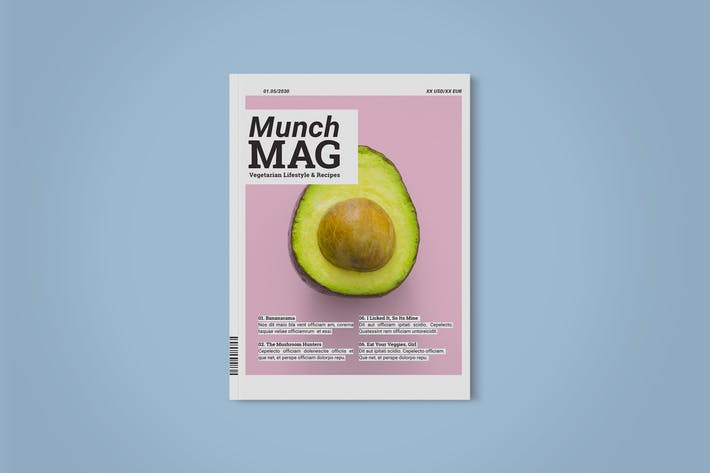 Thumbnail for Magazine Template | Munch Mag