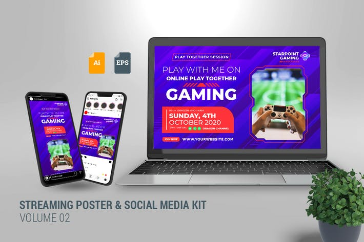 Thumbnail for Streaming Poster & Social Media Kit Vol. 02